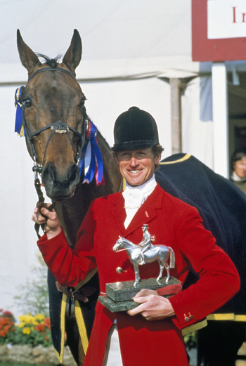 Richard Meade in 1982 after winning the Badminton Horse Trials with Speculator III.