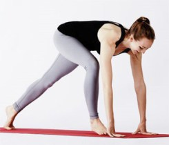 Yoga half split