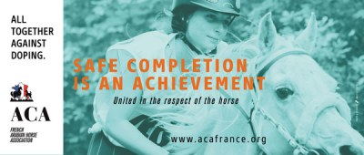 """Safe completion is an achievement"":  The French Arabian Horse Society is taking a stand against endurance horse doping."