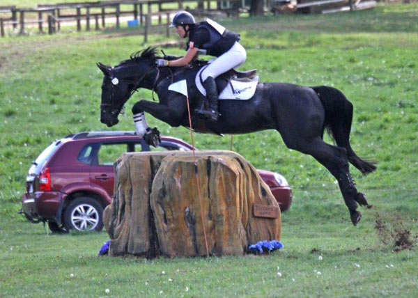Abby Lawrence and Pseudonym on their way to winning the CIC3* at Kihikihi at the weekend.