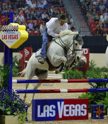 Reining rider Brandon Buttars shows his jumping chops.