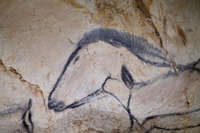 A horse head depicted on the cave wall. Photo: Thomas Sagory/French Ministry of Culture and Communication