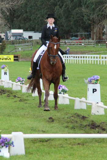 Isabelle Bowditch-McIntyre and Grandios for Australia's Young Rider team.