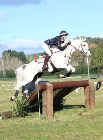 NZ team member Clarke Johnstone and Balmoral Sensation are second individually in the CCI3*.
