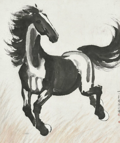 Xu Beihong's Galloping Horse is being auctioned in Hong Kong next month.