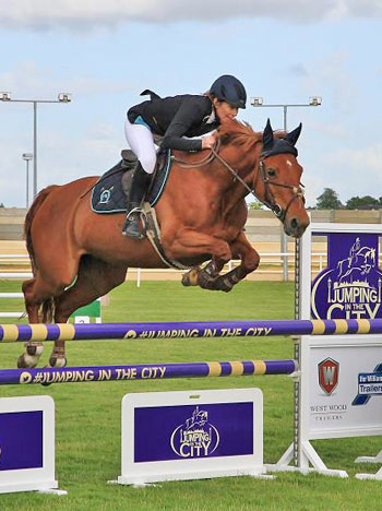 Aileen McDermott and Kilcor Amber won the West Wood Ifor Williams Amateur Speed Class.