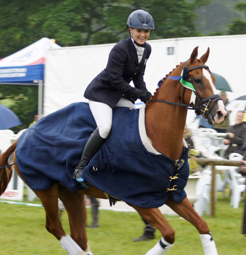 Bramham CCI3* under-25 winner Holly Woodhead and DHI Lupison on their victory lap.