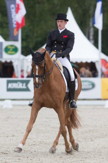 Dressage leader Julien Despotin and Waldano.