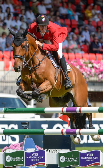 Three 19-year-old riders competed at St Gallen, led by Belgium's Jos Verlooy (Domino) who produced one of the four double-clear performances; Great Britain's Jessica Mendoza (Spirit T) and Ireland's Bertram Allen (Romanov) who both jumped clear in the first round.