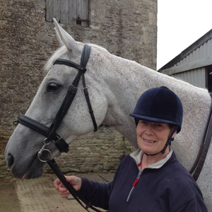 Jane Holderness-Roddam and Tiger's Eye II, whom she will ride at a one-day-event next month. It will be her first ODE in 13 years.