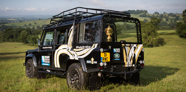 The Rugby World Cup's Webb Ellis Trophy, which will visit the Burghley Horse Trials as part of its tour of the UK and Ireland before the World Cup.
