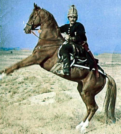 Geldy Kyarizov in historical costume.