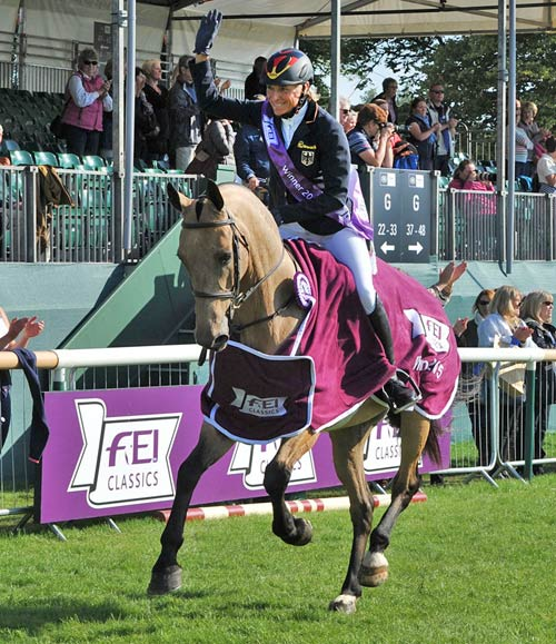 Ingrid Klimke is the first German rider to win the FEI Classics since the series began in 2008. She won Pau in 2014 (Horseware Hale Bob) and Luhmühlen (GER) this year on FRH Escada JS, and finished second (on Horseware Hale Bob) at Badminton.