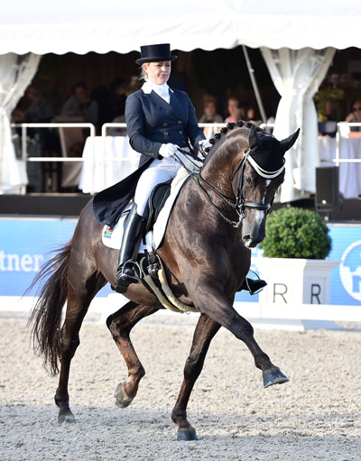 South Afrtica's Tanya Seymour finished fourth with Ramoneur, and earned her country one of the two individual qualifying spots on offer.