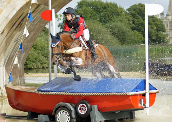 Michael Jung has taken the lead after the cross-country at Burghley on, La Biosthetique Sam.