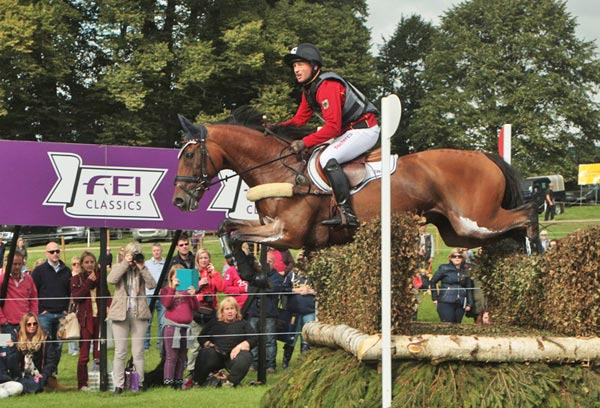Michael Jung and Burghley leader La Biosthetique Sam.