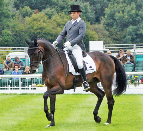 Sam Griffiths (AUS) and Happy Times are in third place after the dressage phase.