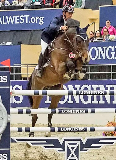 Yann Candele and Granits S were runners-up in the World Cup qualifier at Calgary.