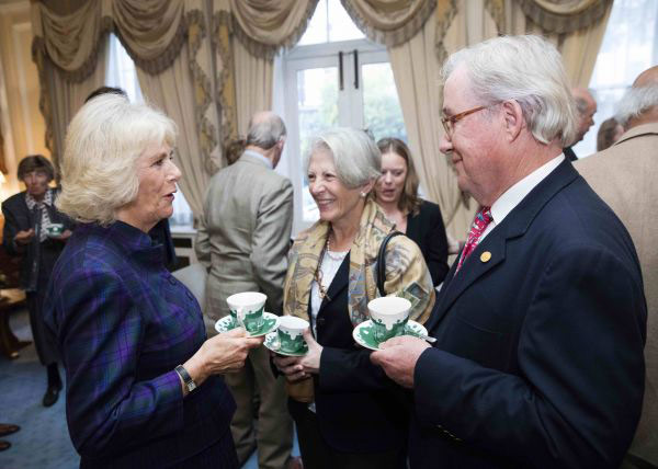 The Duchess of Cornwall with Fritz and Claudine Kundrun.