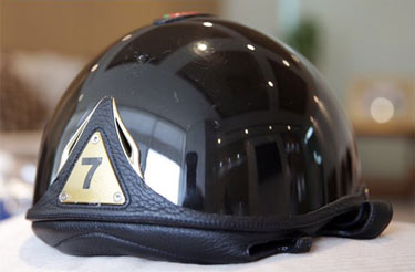 The back of the helmet that sold for $US6.5 million.
