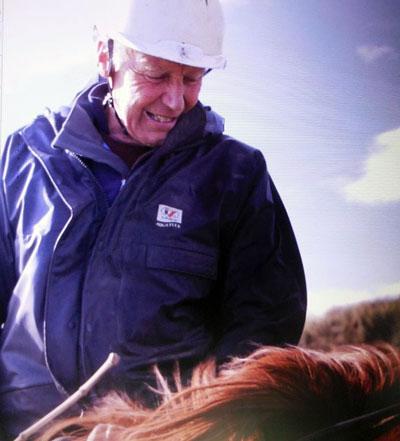Fridtjof Hanson, at 73, is still riding endurance.