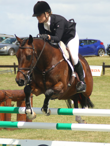 Sarah Young won Puhinui's CCI2* Young Rider title for the second year in a row. She jumped clear on SS Galaxy to take the title on Sunday.
