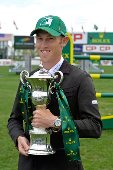 Scott Brash with the Grand Slam trophy.