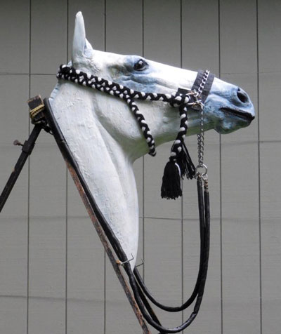 Fridjtof Hanson's copy of the bridle given to Bob Cook in Kuwait.