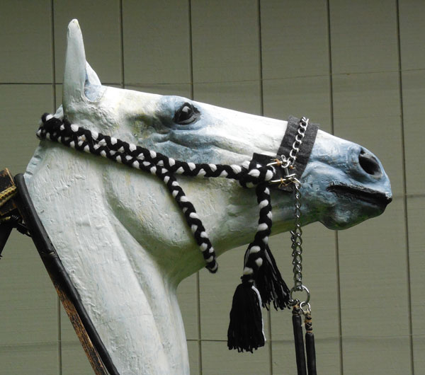 Fridtjof Hanson's replica of the Kuwait Bedouin bitless bridle.