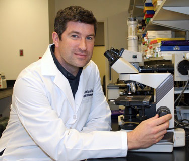 Mark P. Burns, PhD, assistant professor of neuroscience at GUMC and director of the Laboratory for Brain Injury and Dementia.