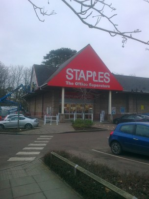 This side has not been started yet. The Office Superstore strapline is set to disappear