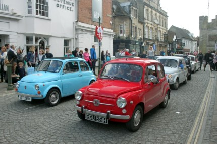 Original Fiat 500s ready to parade out
