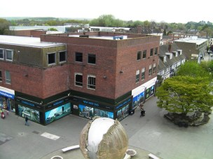 Horsham's West End, but with no theatres.