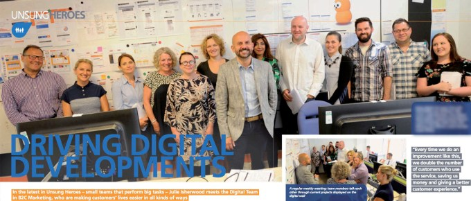 EDF Energy Digital team featured in Connect magazine