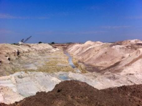 Figure 3. Mining cut