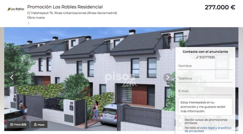 Anuncio de venta de pisos en Los Robles en abril de 2018. (Pisos.com)