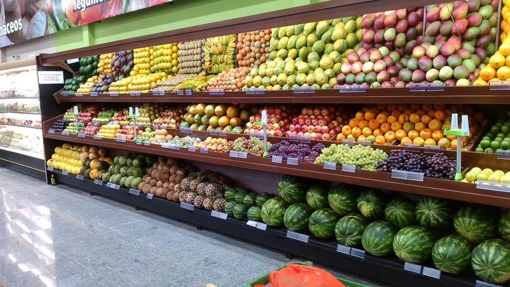 Exposição longa de frutas