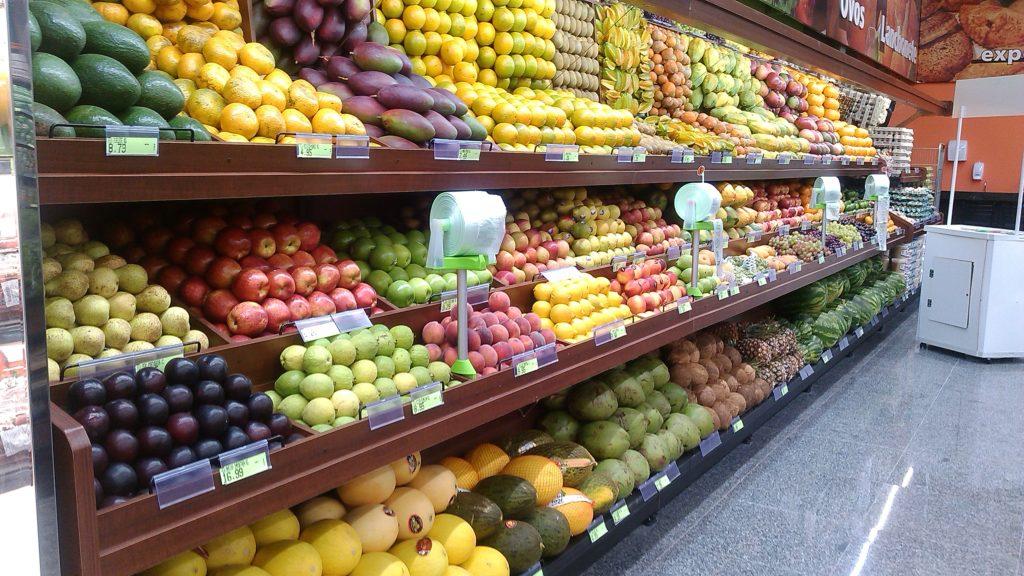 Exposição de frutas