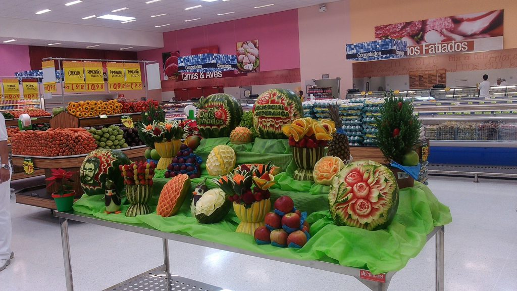 decoração em frutas