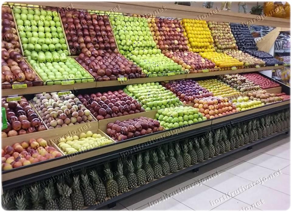 Expositor espelhado de frutas nobres