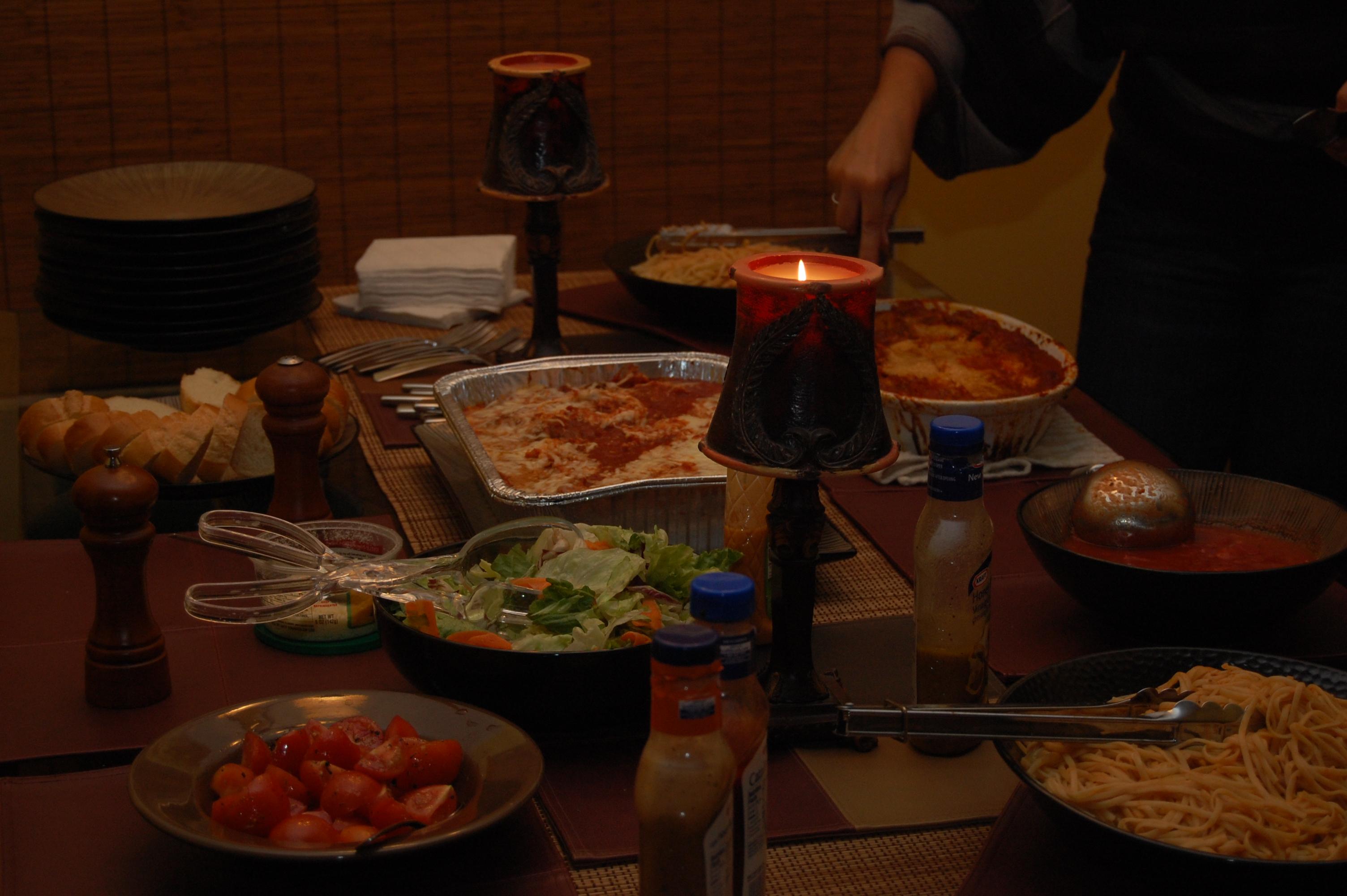 We had a LOT of food!