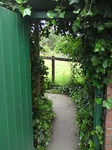 Gateway to the Hill Top lower garden