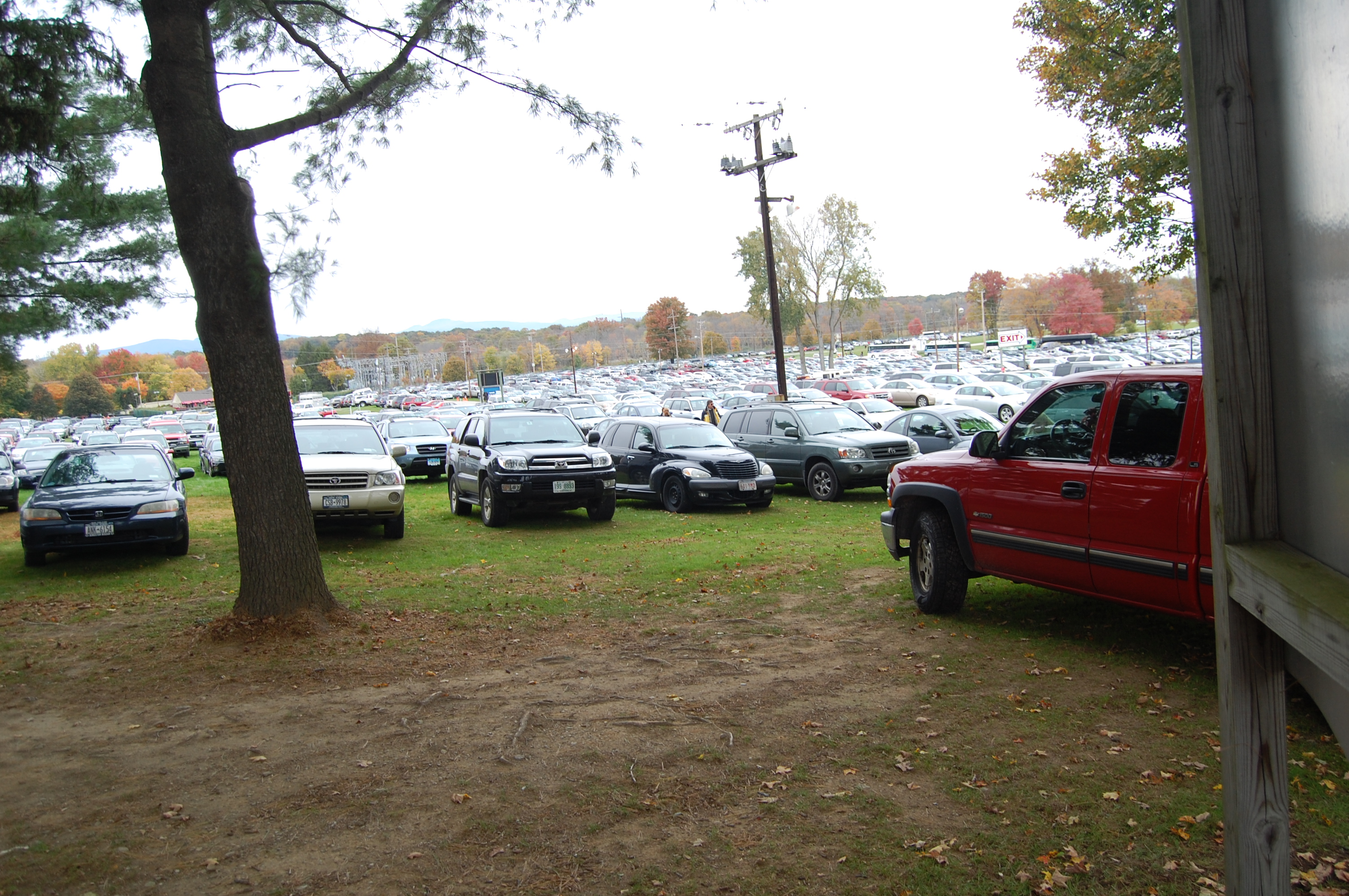One of the parking lots