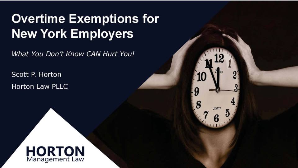 Overtime Exemptions for New York Employers