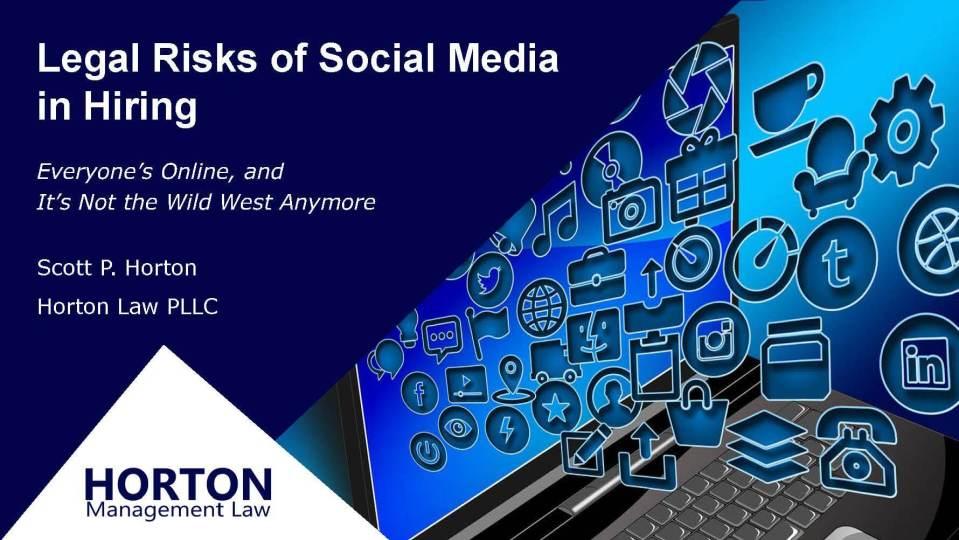 Legal Risks of Social Media in Hiring Webinar Cover