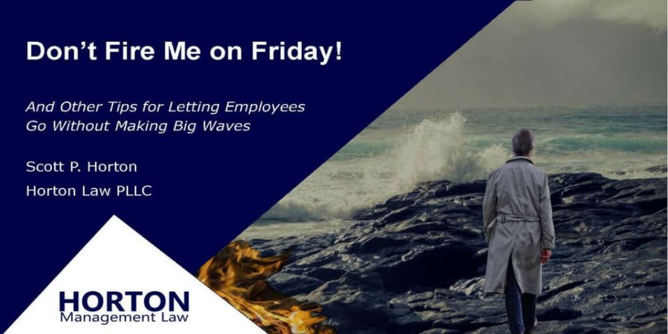 Don't Fire Me on Friday Webinar