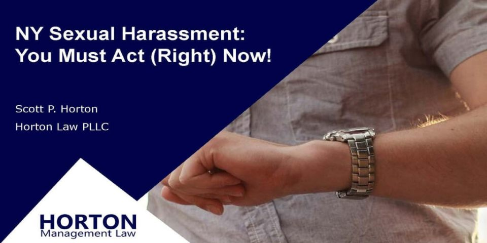 NY Sexual Harassment Webinar