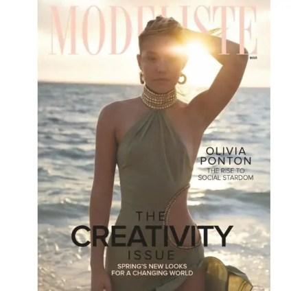 Olivia Ponton on Modeliste magazine