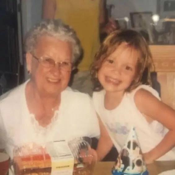 Olivia ponton with her grandmother