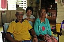 Sandra Wong with Bapa and Ibu at Long Lellang